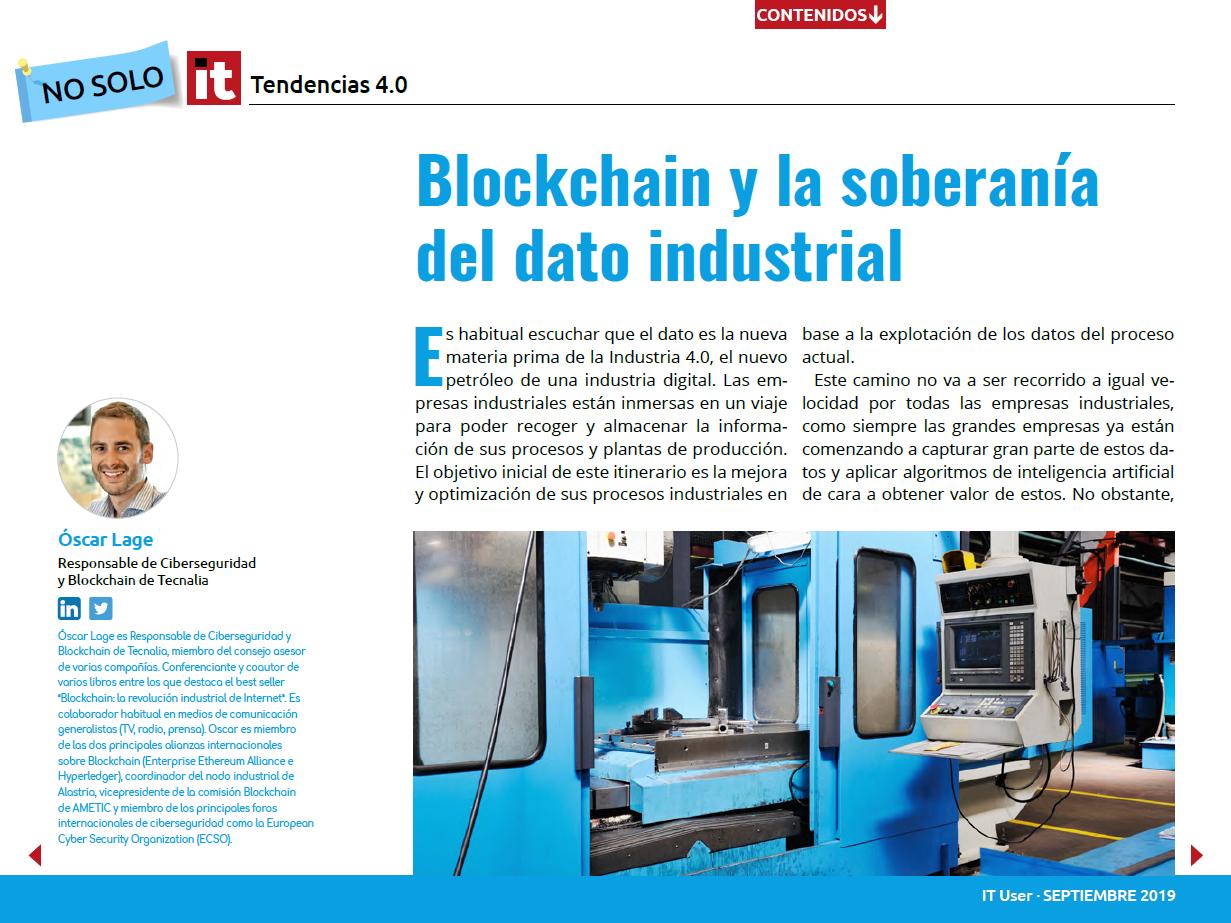 Blockchain y la soberanía del dato industrial